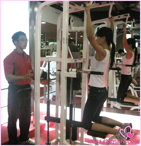 Training at the gym