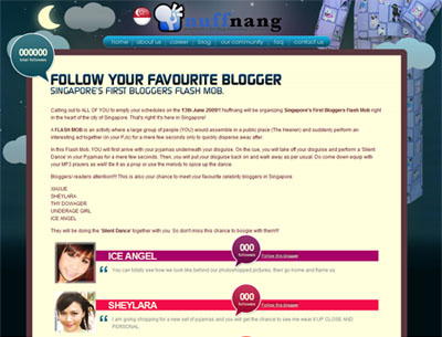 Bloggers Flash Mob