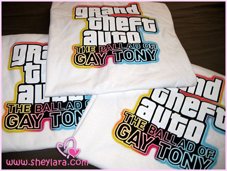 Ballad of Gay Tony t-shirts