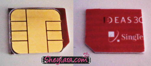 SIM card and MicroSIM card