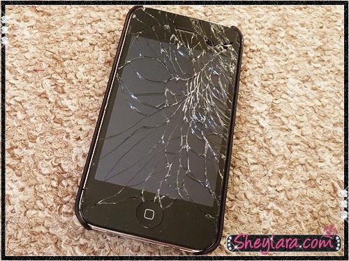 Shattered iPhone 4
