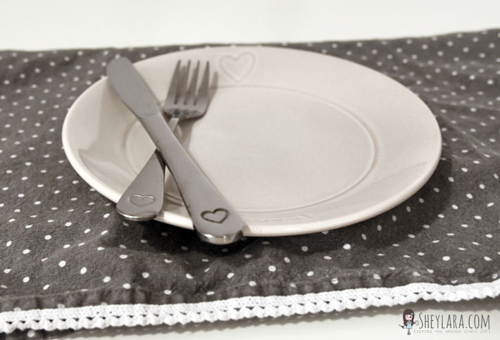 Dinnerware with hearts