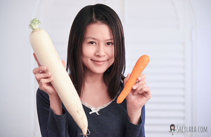 Daikon radish vs regular carrot