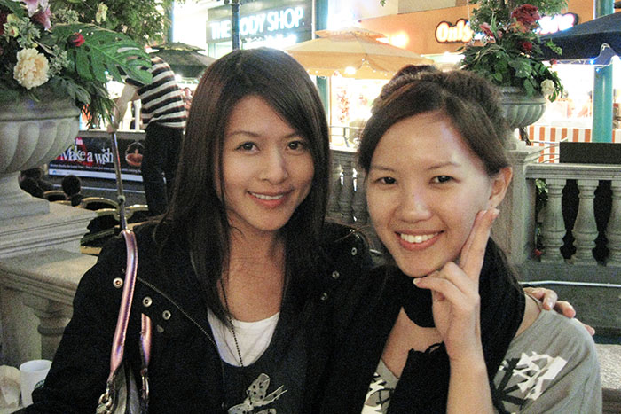 Old photo of Sheylara and Nanny Wen
